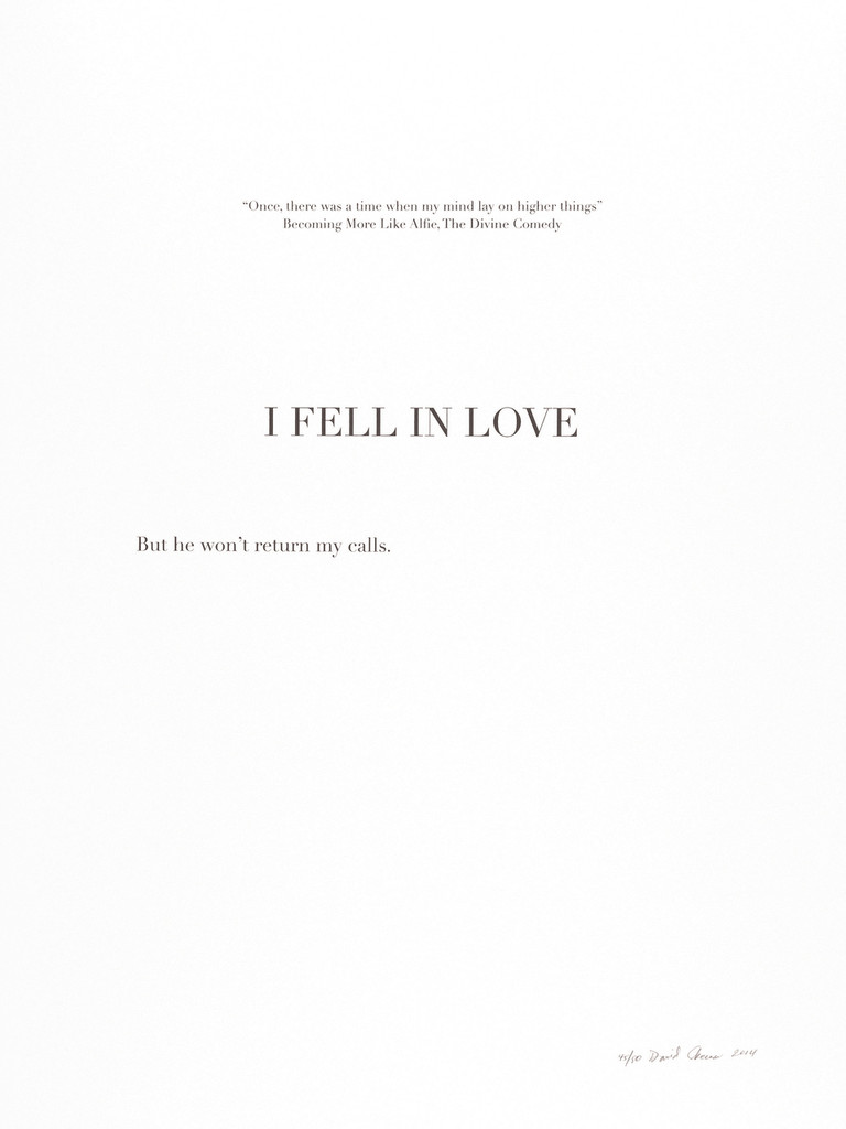 "David Skeens, ""I Fell in Love"""