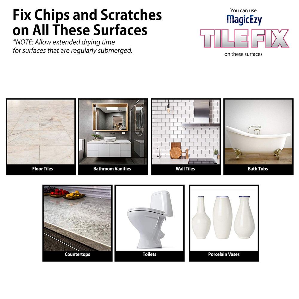** MAGICEZY TILE FIX™ Deep Chip Filler (not available in USA)