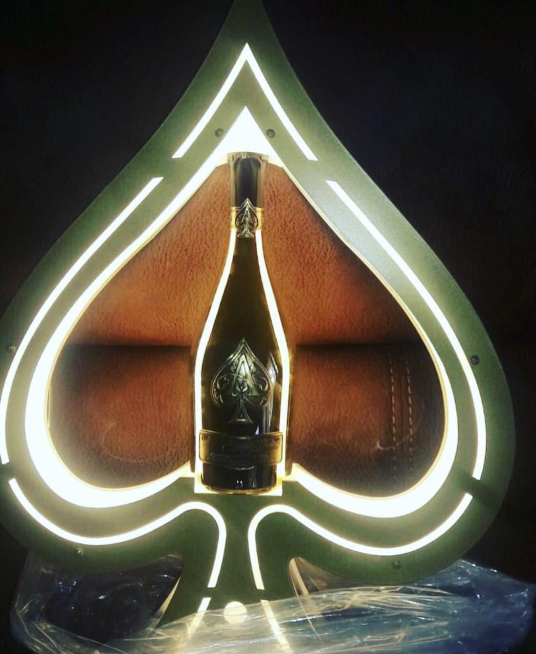 Champagne Bottle presenter