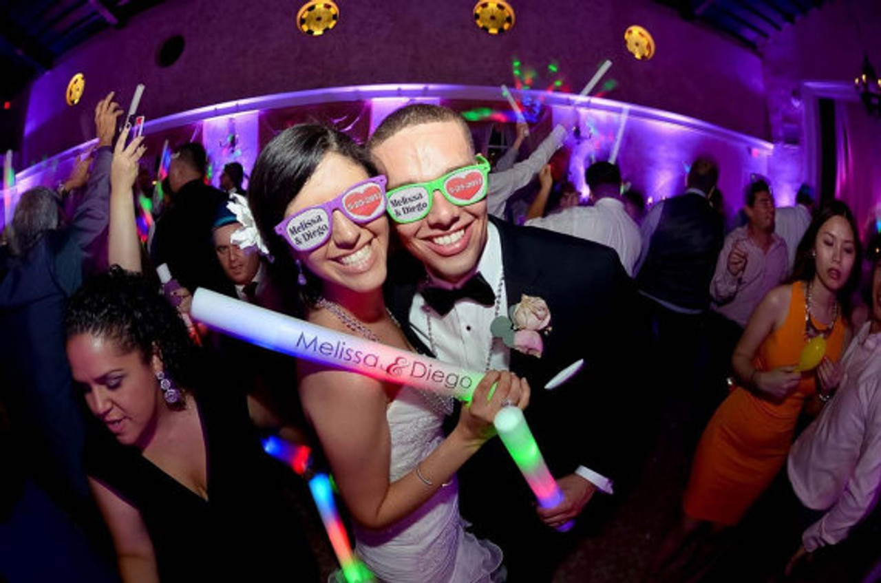Custom printed sunglasses for weddings