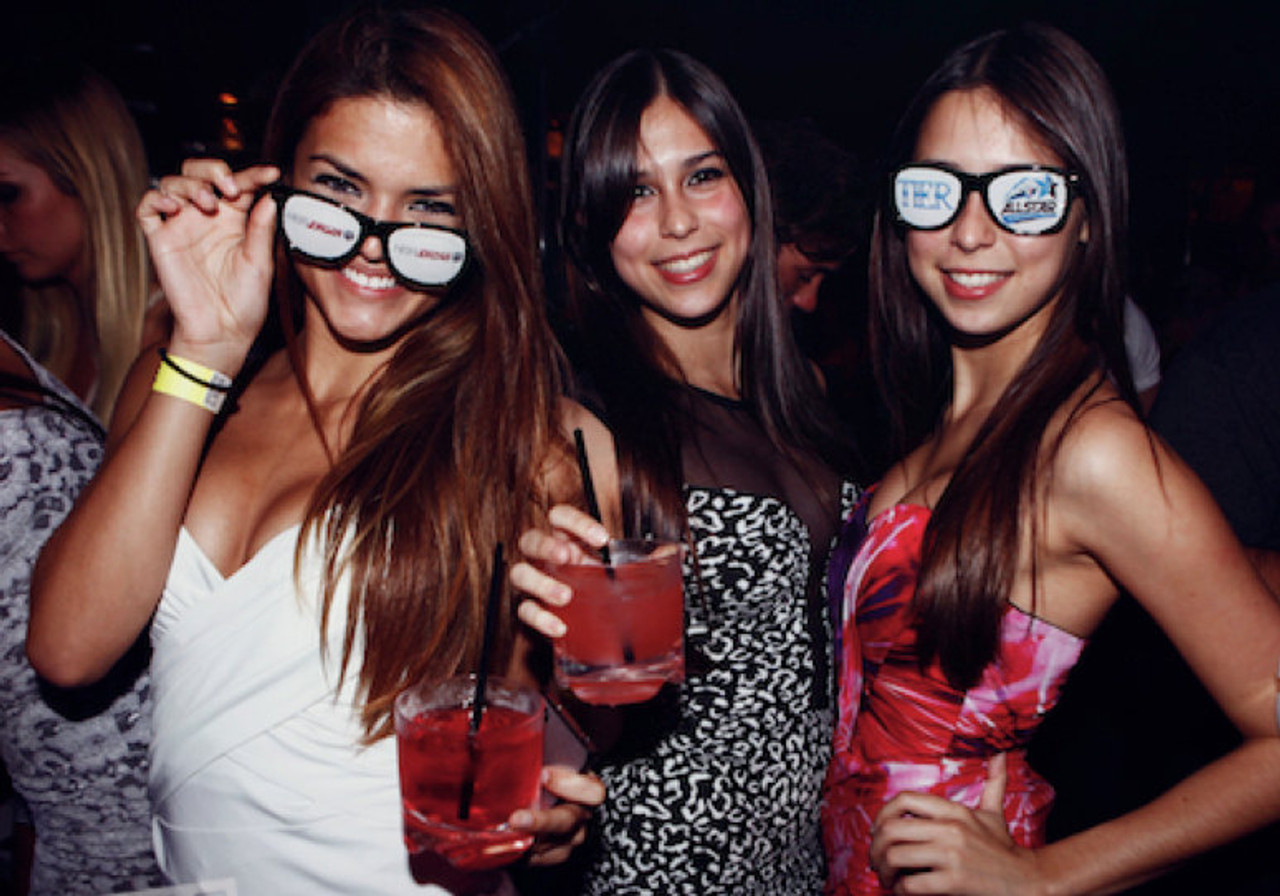 Printed sunglasses for nightclubs