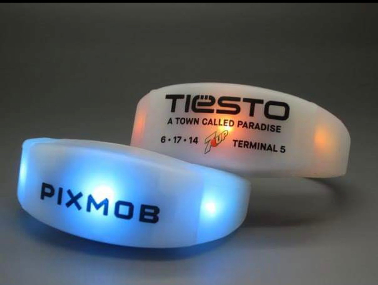 DMX control Activated Wristbands with logo