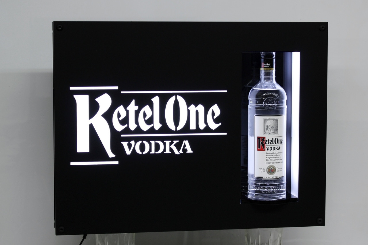 CUSTOM LED SIGN BOTTLE PRESENTER