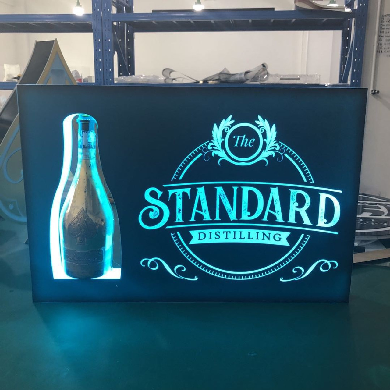 BOTTLE LIGHT UP SIGN