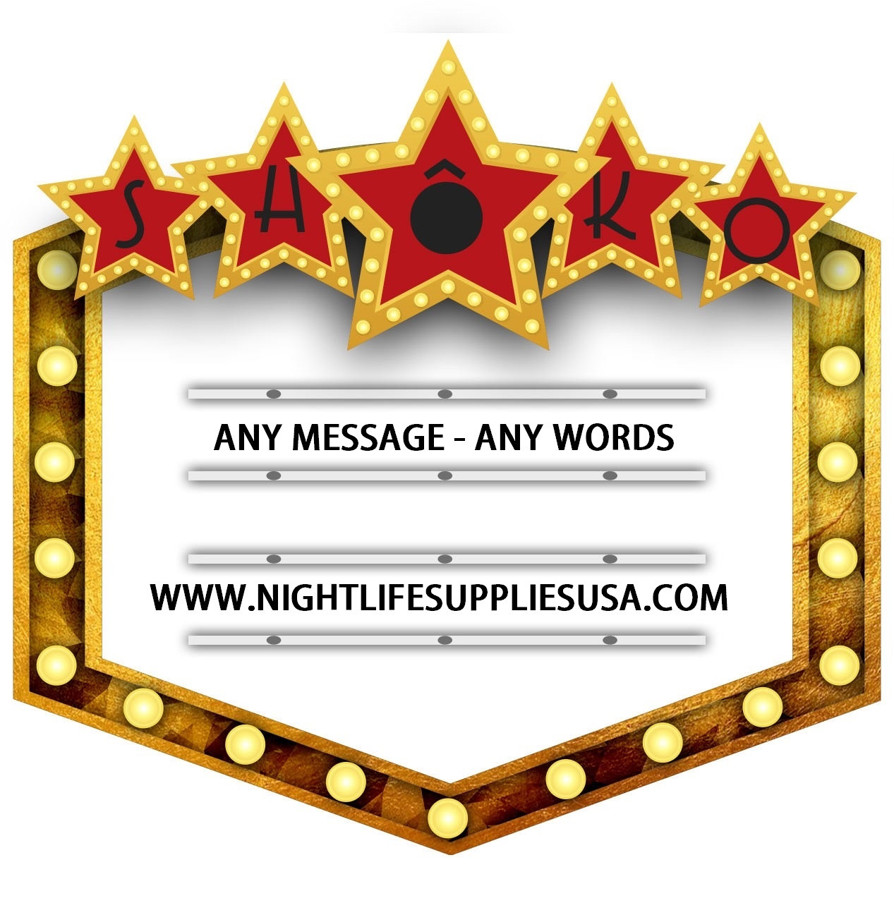 MARQUEE MESSAGE BOARD