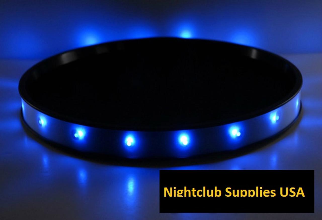 LED FLASHING SERVING TRAY, around tray, serving tray, light up tray, tray,