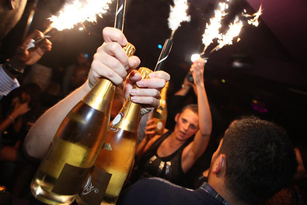 Champagne Bottle Sparklers