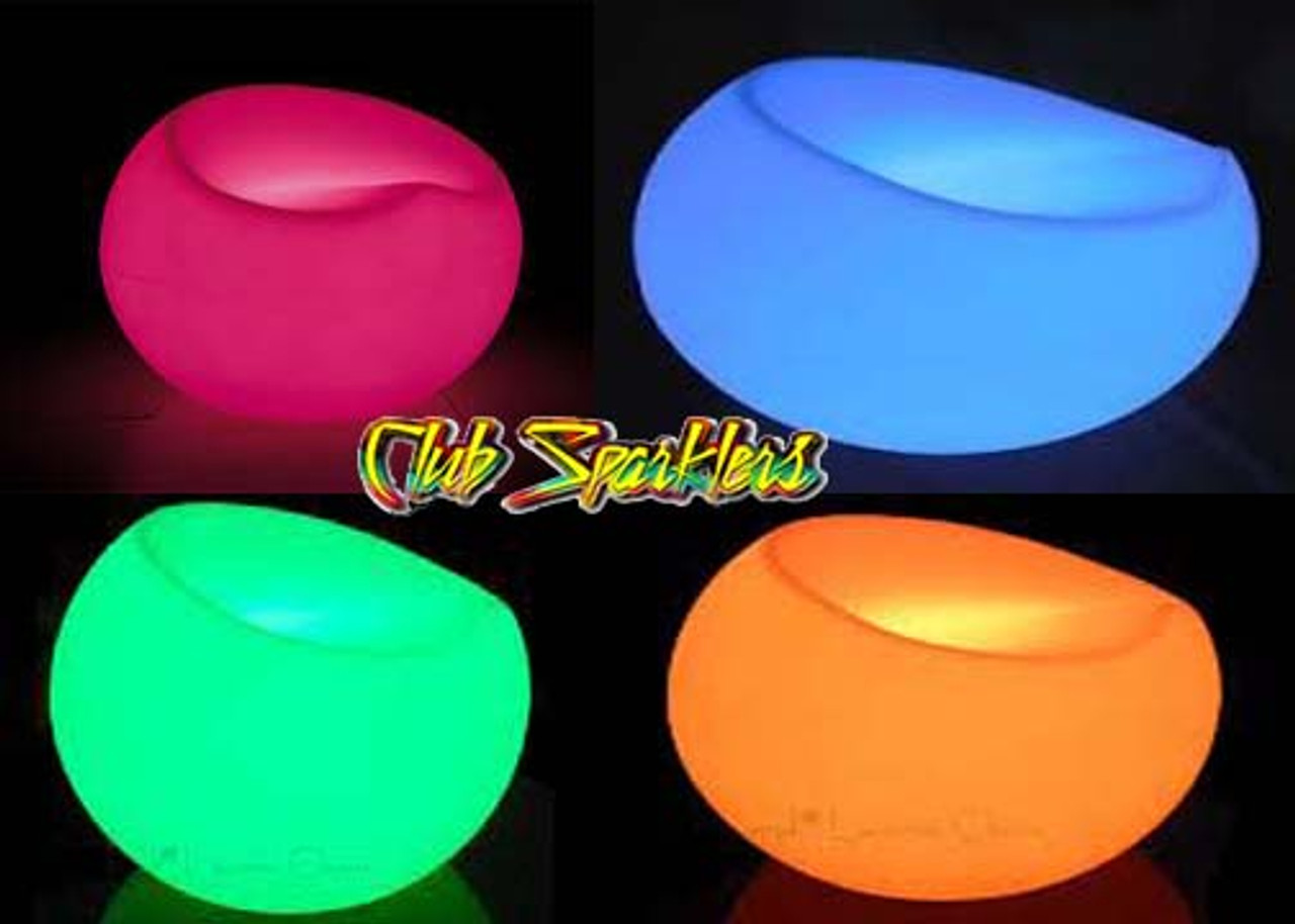 LED SEAT, LED STOL, LED FURNITURE, GLOW IN A DARK, LED CHAIR