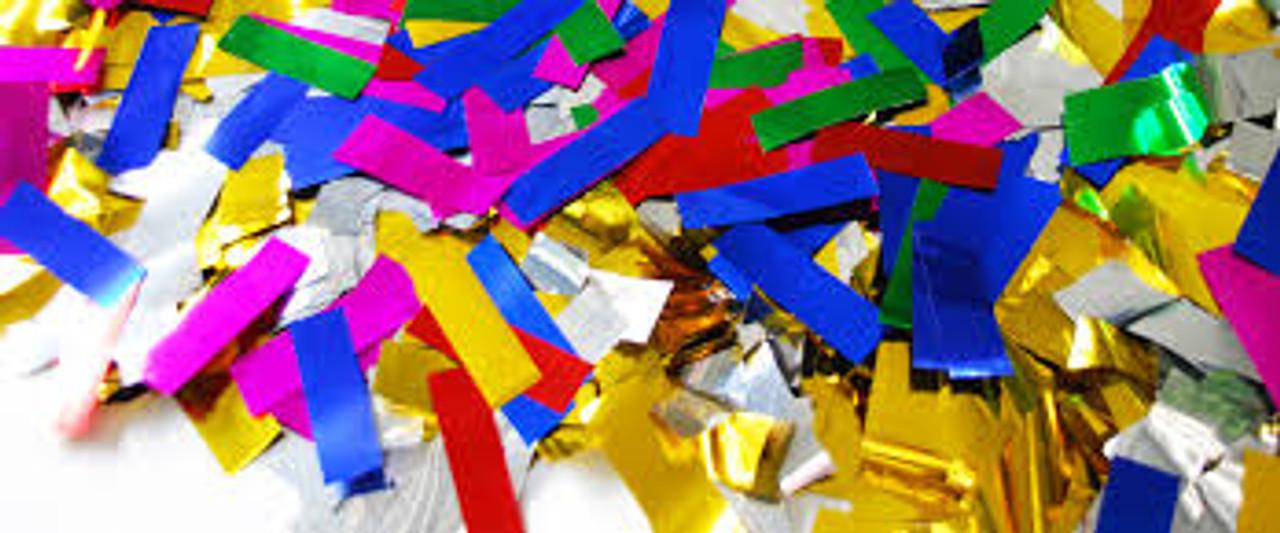 METALLIC CONFETTI,confetti by the pound, confetti, bulk confetti, rectangle confetti, wedding confetti, night club confetti, nightclub confetti, confetti for all occasions, colorful confetti