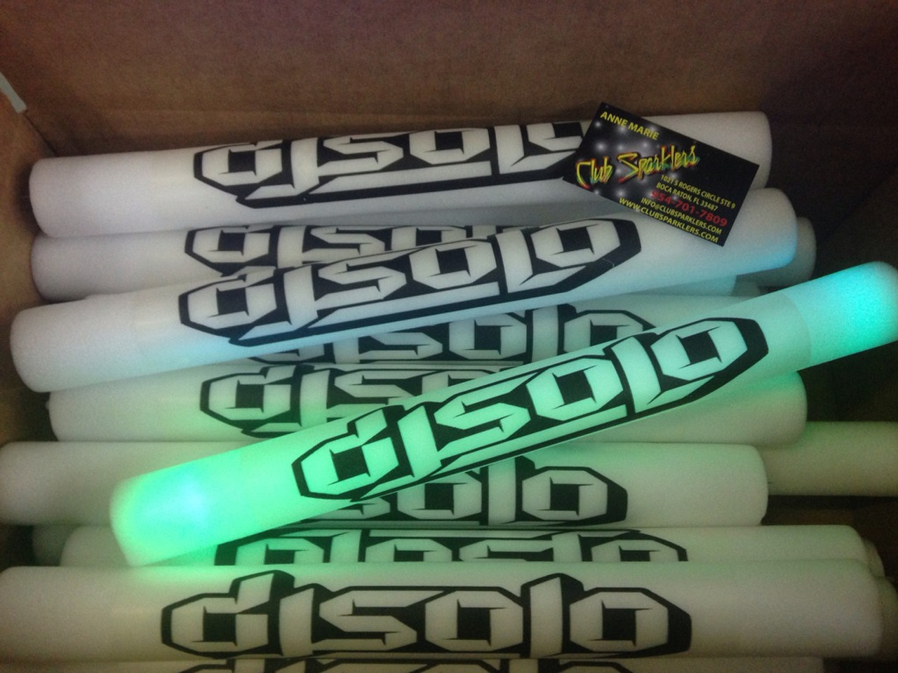 LED CUSTOM FOAM STICK FOR ALL THE SPECIAL EVENTS .