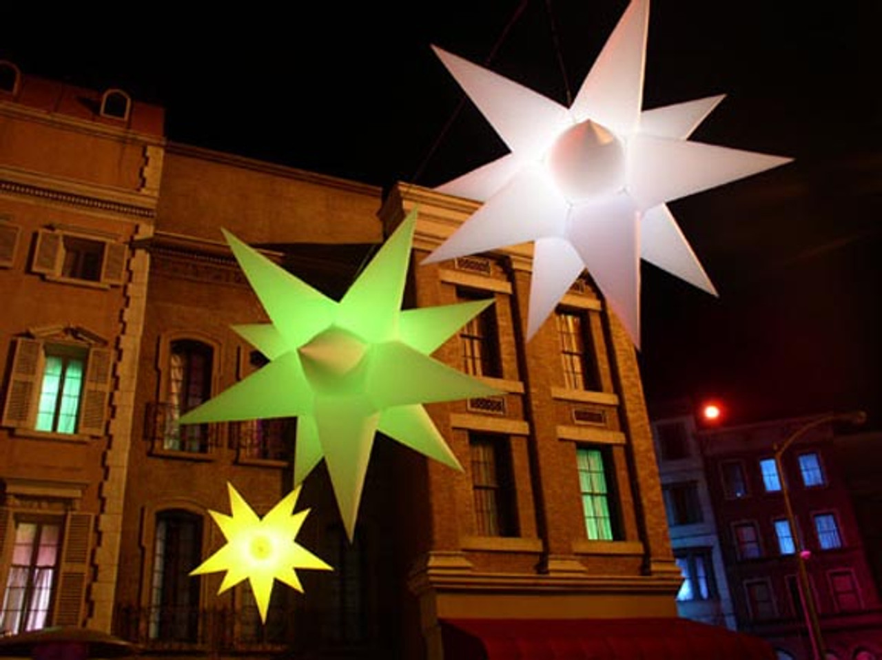led inflatable star stage decoration