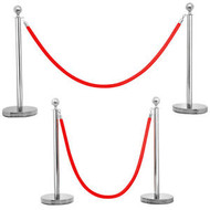 STANCHION SECURITY POST & ROPES
