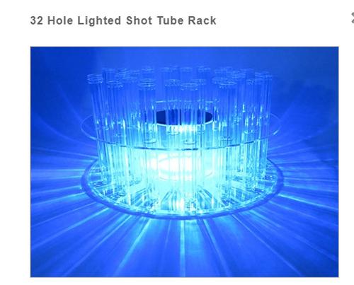 LED RGB TEXT TUBE SHOT RACK