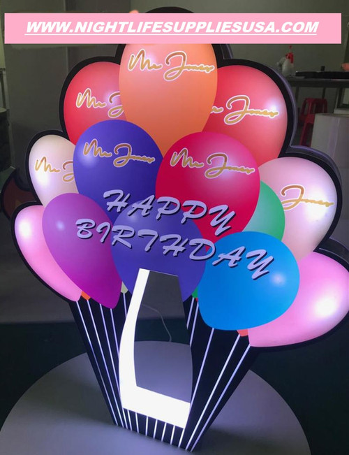 HAPPY BIRTHDAY BALLOON SIGN