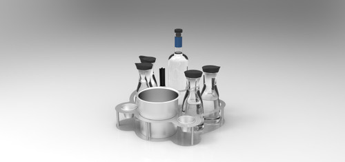 BOTTLE SERVICE TRAY
