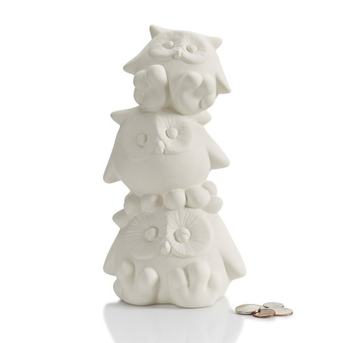 Stack of Owls Bank w/Stopper
