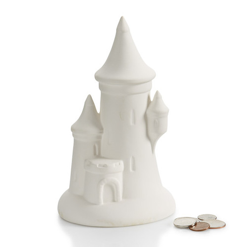 Pointed Castle Bank w/Stopper