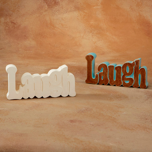 Laugh Word Plaque