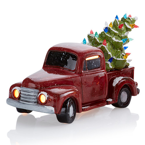 Vintage Light-Up Truck with Tree