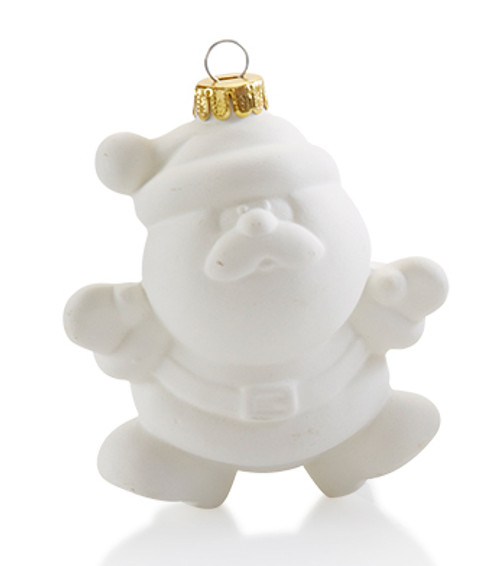 Puffy Santa Ornament