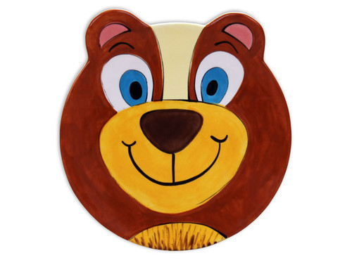 Animal Face Plate: Bear