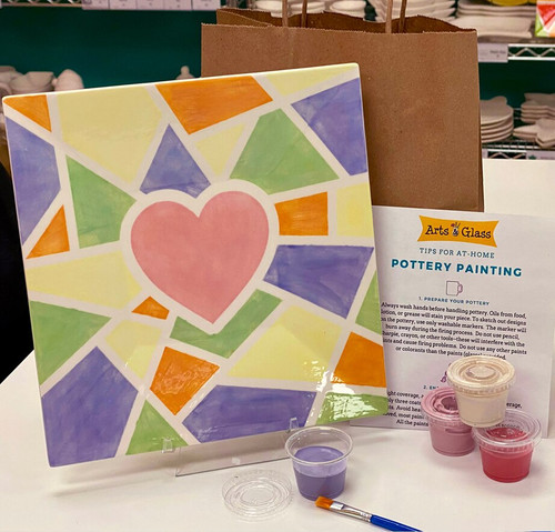 Candy Hearts Dinner Plate Kit