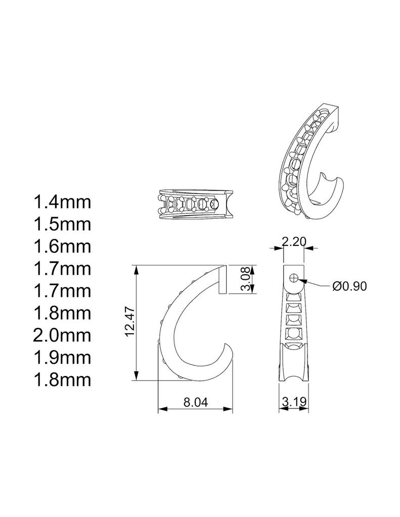 small demi hoop dimensions