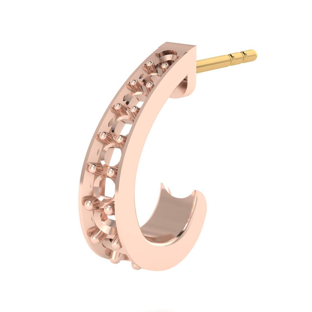 9105 Medium Demi-Hoop Earrings