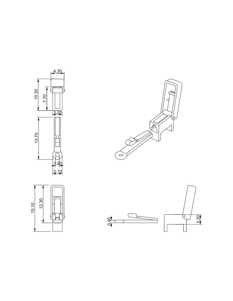 Box removable clasp open position
