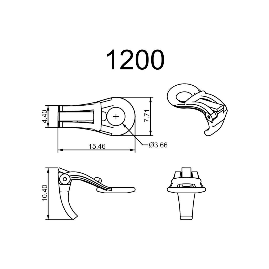 1200 Series Flat Pad Ear Clips