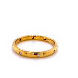 9316   Gents 18k gold and diamond band