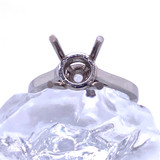 9405 -Handmade 4 prong platinum solitaire for 1.25 ct (7mm)  stone