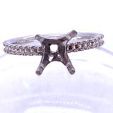 9406 - 4 prong platinum mounting stone set shank