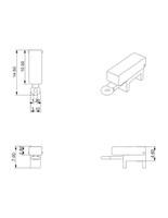 Box removable clasp closed dimensions