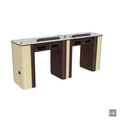 Verona Nail Table - Double Gel insert optional