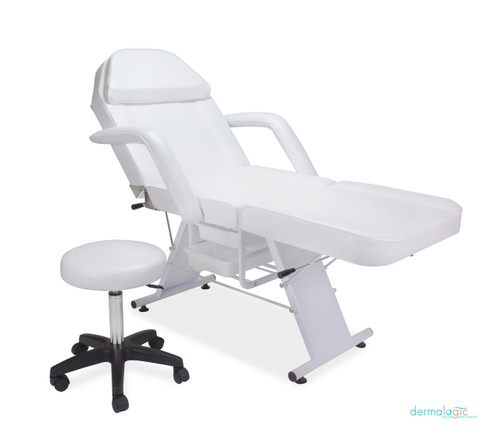 Parker Facial Bed with Stool - White