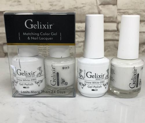 Gelixir Matching Gel & Polish - 090 -White (Very Good)