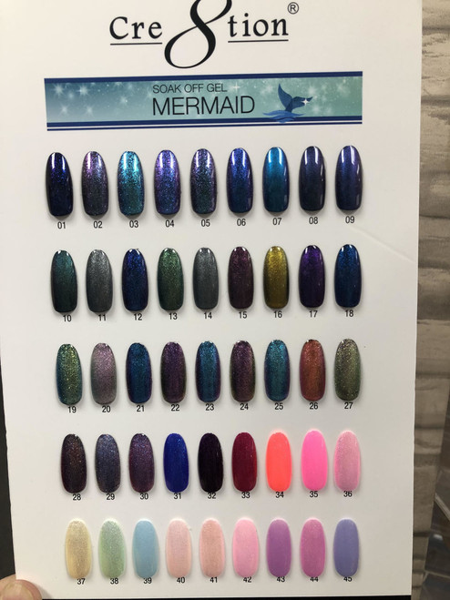 New Cre8tion Mermaid Gel Color  - 45 Colors