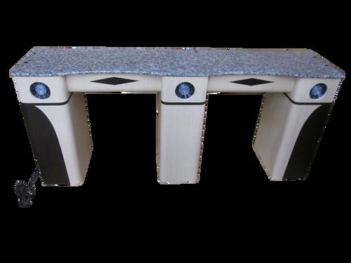 PC Double Straight Nail Table PL1000-2002-1946 Fan Legs
