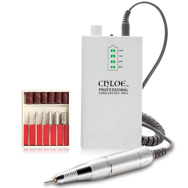 Chloe Cordless Nail Drill 30K (White or Pink)