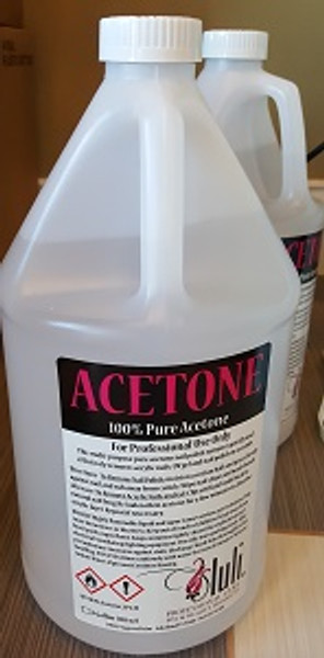Group A01 - Branded Acetone 100% 4 Gal/Case : No Shipping - Limit 1 Per Salon
