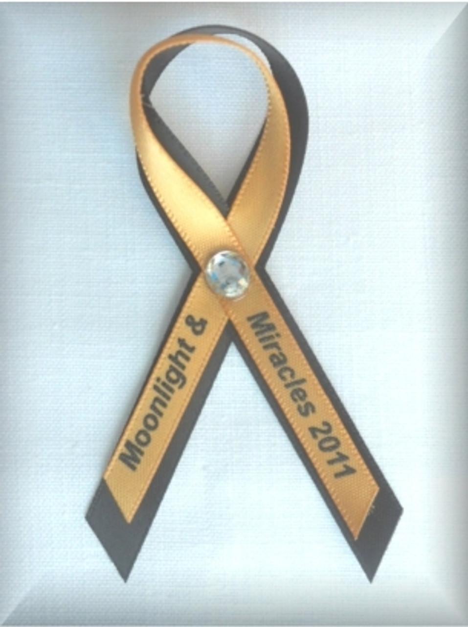 3 8 Screen Printed Awareness Ribbon Pins