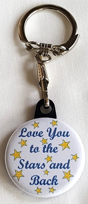 Use our Love you to the stars and back Key Chain for your own personal use or for a donation thank you - team member selling tool - your web store.