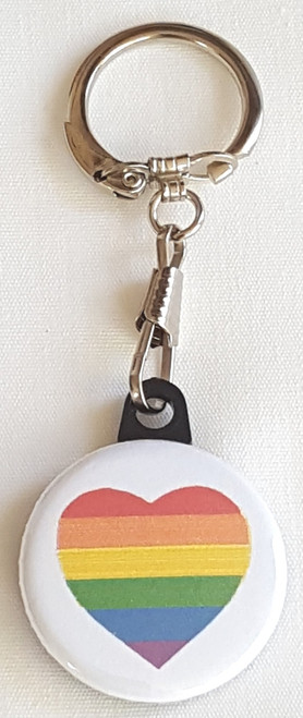 Use our Pride Heart Awareness Key Chain for your own personal use or for a donation thank you - team member selling tool - your web store.