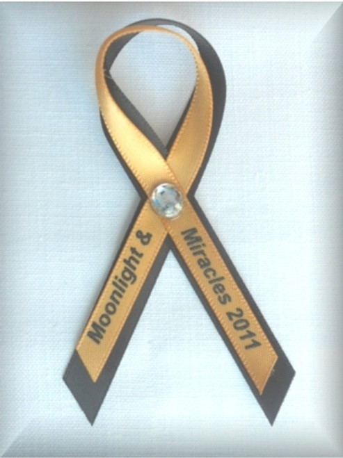 "3/8"" Screen Printed Awareness Ribbon Pins"