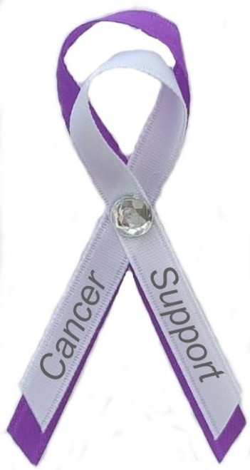 Our custom made Purple Awareness Pin represents Cancer as well as Alzheimer's, Animal Abuse, Anti-Violence, Colitis, Victims of 9/11, etc. Purple Awareness Ribbon Pin are used for galas, hospitals, foundations, organizations, corporations, donations., conferences, charity/benefit events.