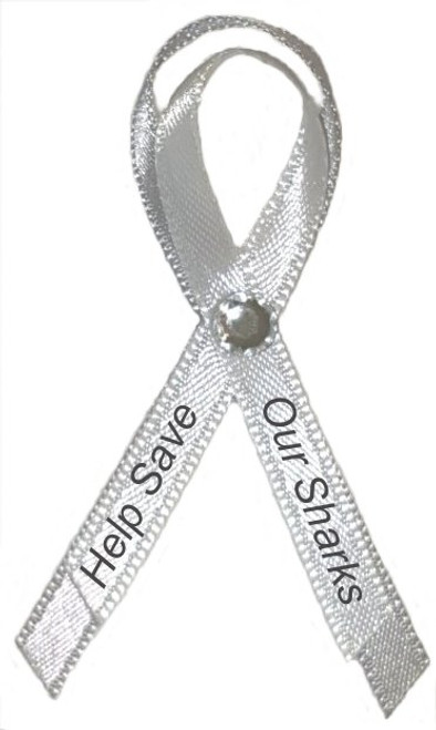 Save our Sharks by bringing awareness to them by handing out one of our Grey/White Awareness Ribbon Pins at your next function, zoo event, aquarium event or fundraiser.