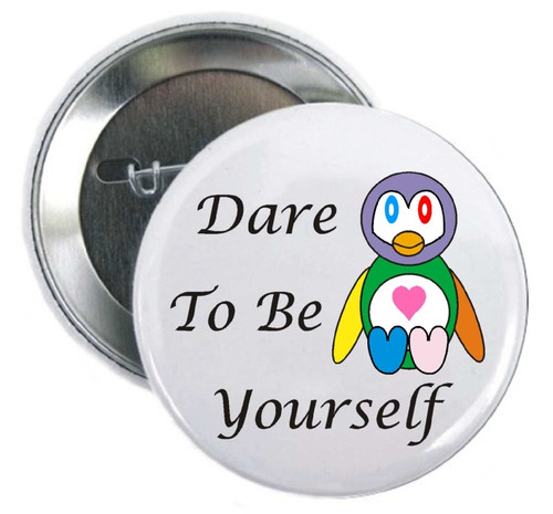Dare to be Yourself with our unique penguin pin proudly display individual colors that is perfect for Parades, Organizations, Marathons, Thank You Donations., Foundations, Hospitals.
