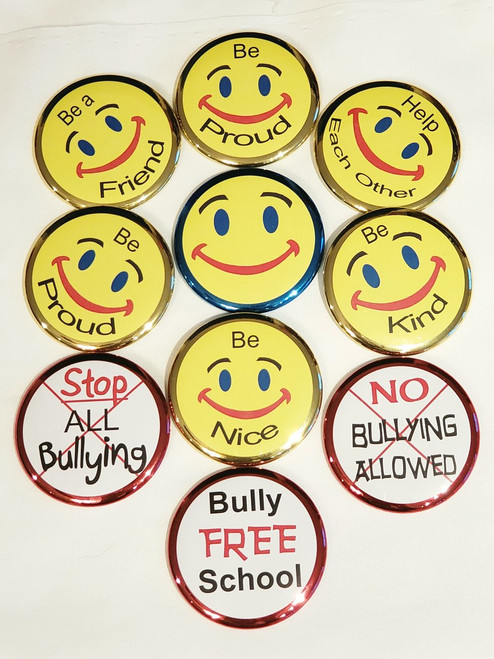 """CLICK HERE TO ORDER: 2.25"""" Anti Bullying Button"""