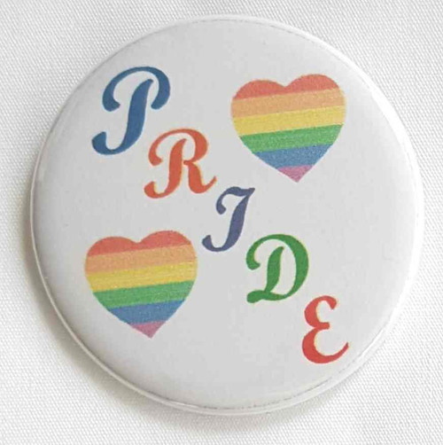 Pride with rainbow hearts. Great for parades and rallys.